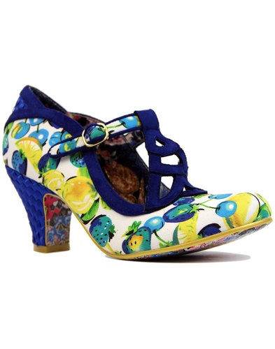 irregular choice nicely done floral heels white