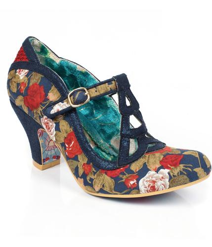 IRREGULAR CHOICE NICELY DONE RETRO VINTAGE HEELS