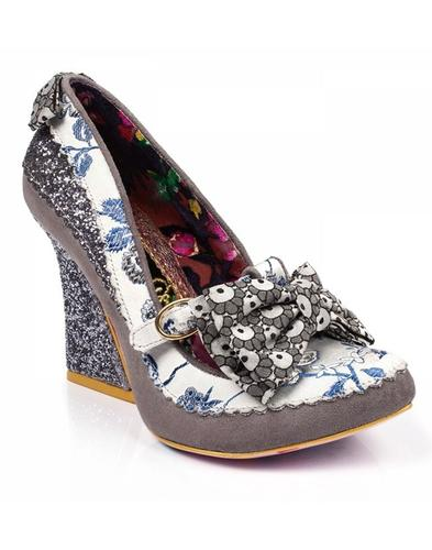 Soap & Suds IRREGULAR CHOICE T-Bar Glitter Heels