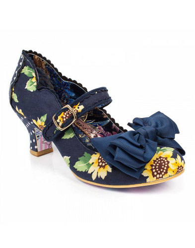 Irregular choice summer breeze blue sunflower heel