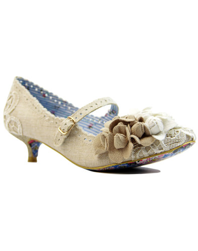 irregular choice daisy dayz retro 60s flower heels