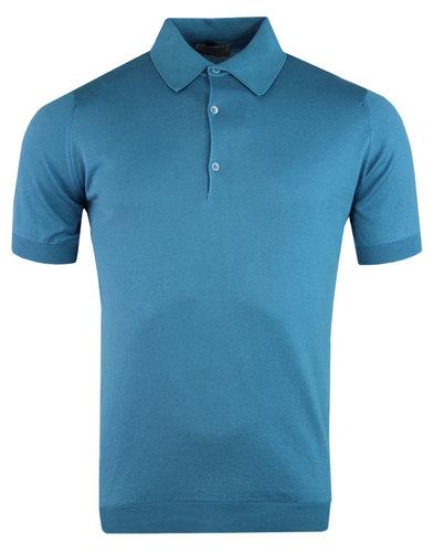 john smedley adrian mod shirt blue standard fit