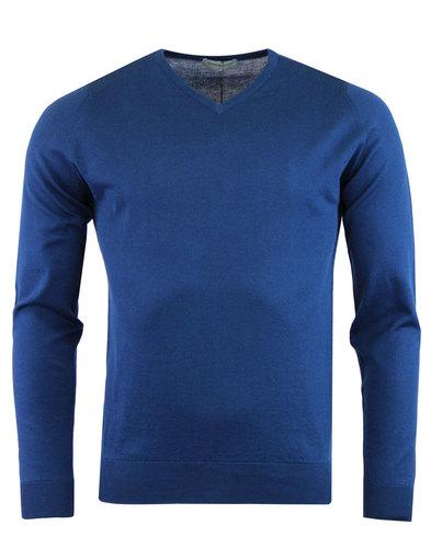 john smedley aydon jumper V-neck indigo