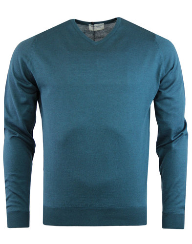 john smedley aydon pullover green