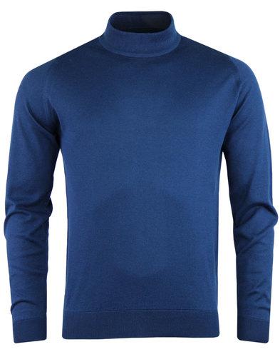 john smedley mens bradgate pullover jumper indigo