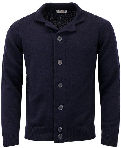 john smedley grable retro mod knit blazer cardigan