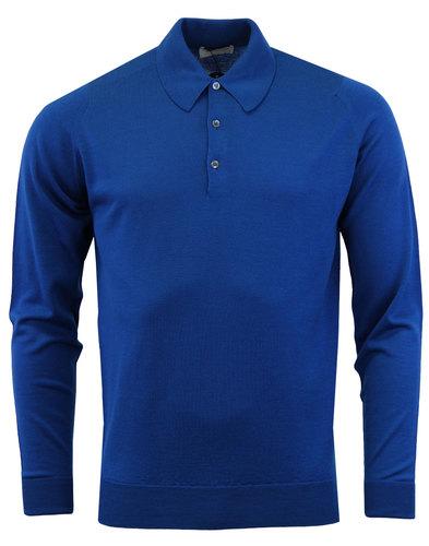 john smedley mens mod retro dorset shirt blue