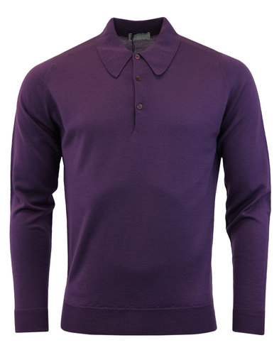 Dorset Easy Fit Mod Shirt JOHN SMEDLEY In Purple