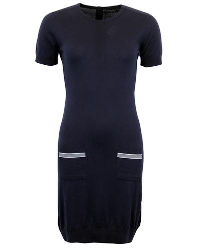JOHN SMEDLEY WOMENS RETRO KNITTED DRESS
