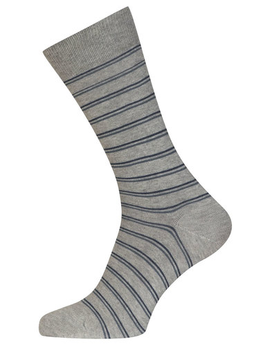 john smedley retro mod striped socks indigo