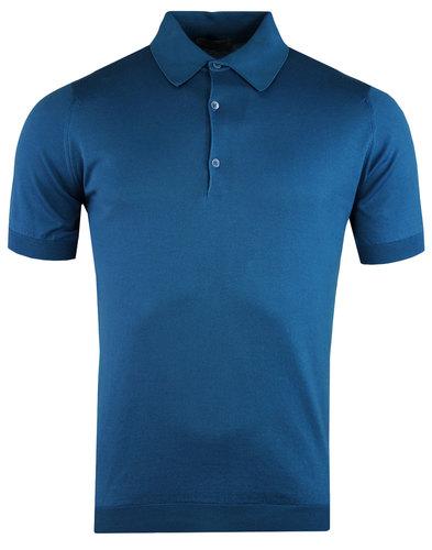 john smedley isis mod retro shirt stevens blue