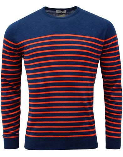 Redfree JOHN SMEDLEY Made in England Stripe Jumper