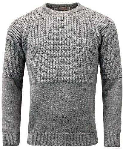 john smedley natural retro mod waffle knit jumper