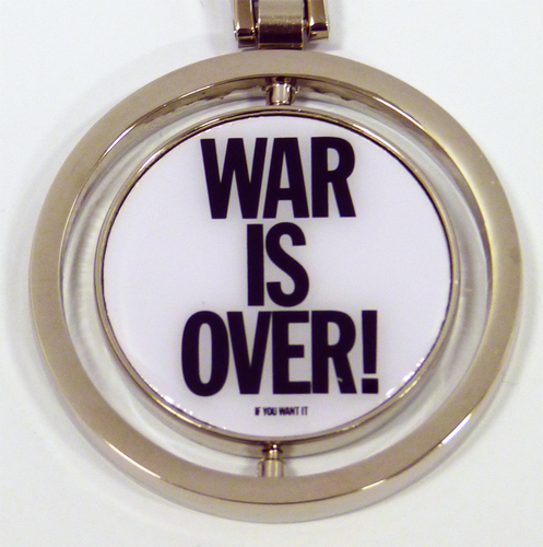 John Lennon War Is Over Retro 60s Spinner Key Ring