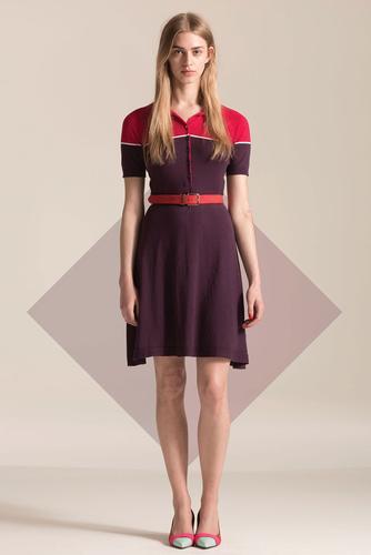 Catrin JOHN SMEDLEY Retro 60s Mod Polo Dress