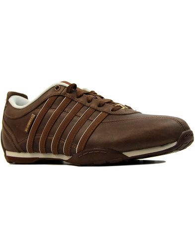 k-swiss arvee retro 70s athletic trainers tobacco