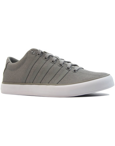 k-swiss court pro mens retro canvas trainers grey