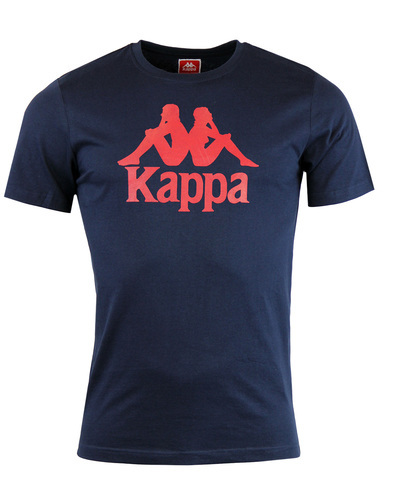 kappa estessi crew neck logo tee navy