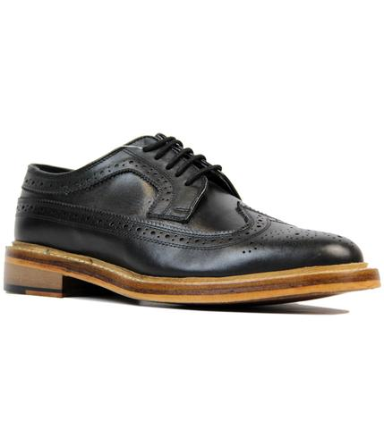 RETRO MOD GOODYEAR WELTED BROGUES SHOES BLACK