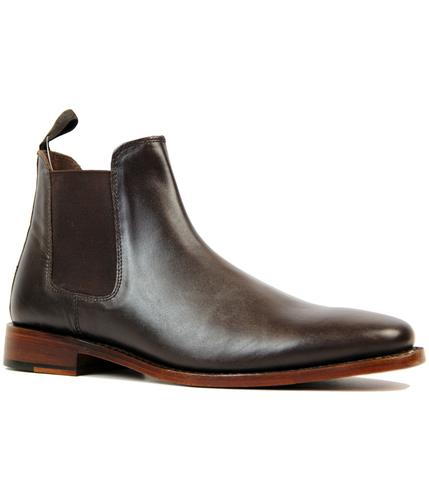 RETRO MOD GOODYEAR WELTED CHELSEA BOOTS BROWN