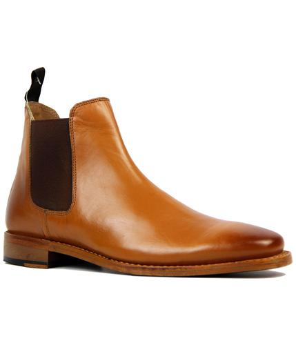 RETRO MOD GOODYEAR WELTED CHELSEA BOOTS TAN