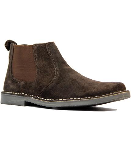 MOD RETRO SUEDE DESERT CHELSEA BOOTS BROWN