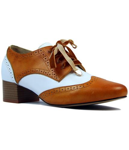 laceys patience retro 60s mod 2 tone brogue shoes