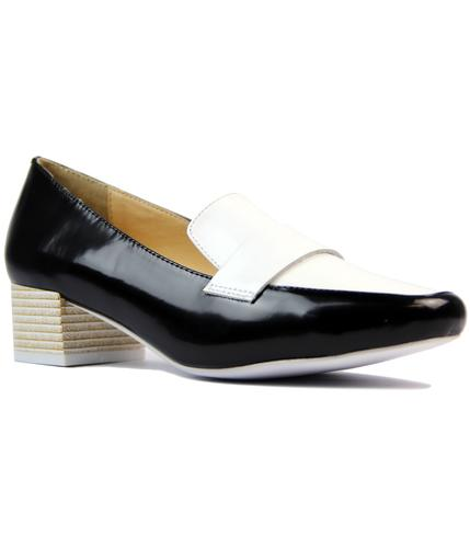 laceys patrizia retro 1960s mod two tone loafers