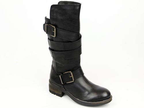 Paige Strappy LACEYS Retro 1970s Tall Biker Boots