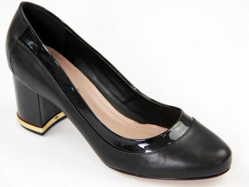 LACEYS WOMENS RETRO CLASSIC COURT SHOES BLACK