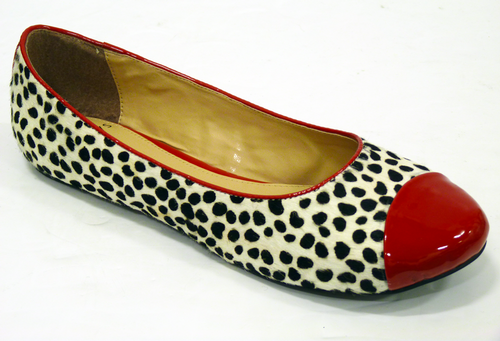 FABLE TO CAP LACEYS RETRO LEOPARD PRINT SHOES