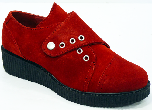 Torquay LACEYS Retro 50s Indie Suede Creepers (R)