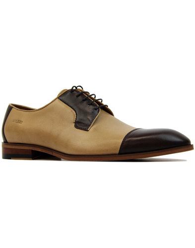 lacuzzo ogden 60s mod leather two tone derby shoes