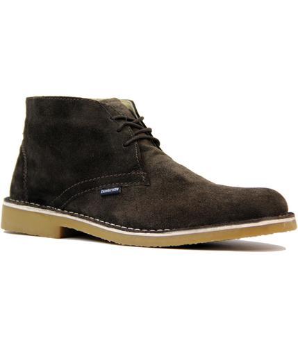 Carnaby LAMBRETTA 60s Mod Suede Desert Boots BROWN