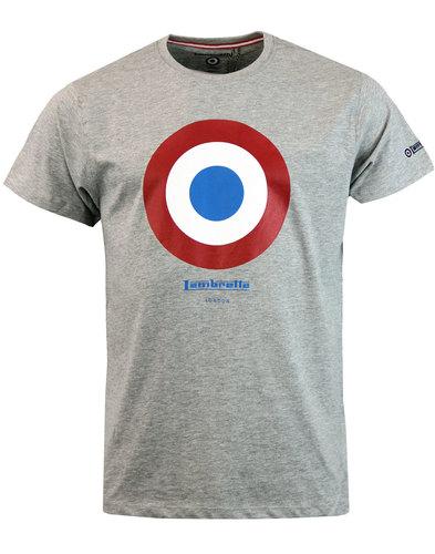 LAMBRETTA Retro Mod Target Keith Moon T-shirt GREY