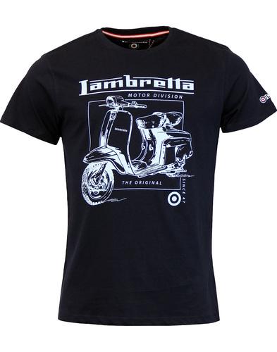 LAMBRETTA Retro Mod Motor Division Scooter Tee