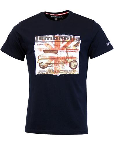 LAMBRETTA Retro Mod Scooter Diagram T-Shirt