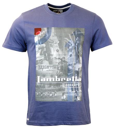 LAMBRETTA RETRO MOD SCOOTER MONTAGE T-SHIRT