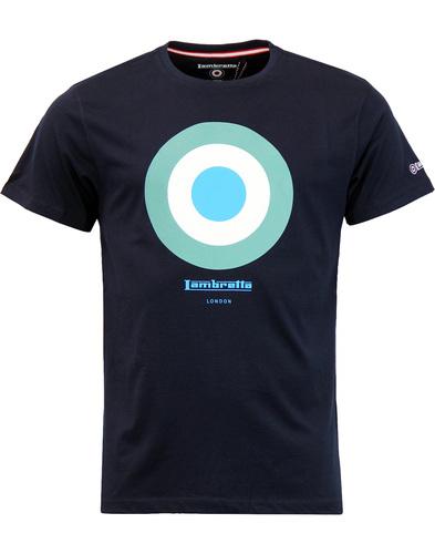 LAMBRETTA Retro Mod Target Keith Moon T-shirt NAVY