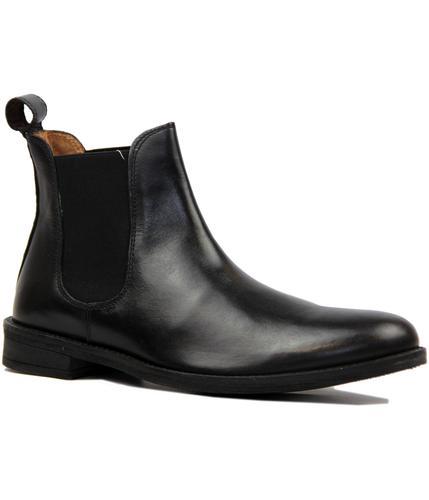 Fleet LAMBRETTA Retro Mod Leather Chelsea Boots