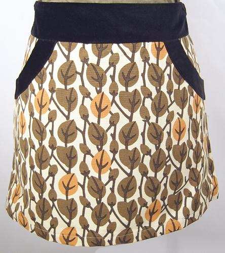 EC STAR MINI SKIRT RETRO SKIRT SIXTIES SEVENTIES