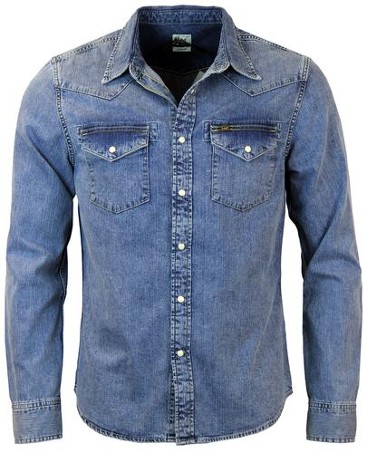 LEE JEANS RETRO MOD SLIM FIT DENIM WESTERN SHIRT