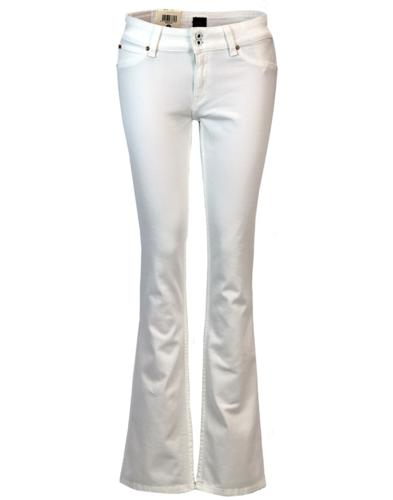 LEE Joliet Retro 1970s White Denim Bootcut Jeans