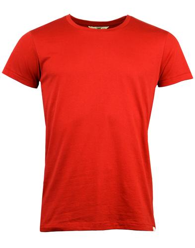 lee jeans retro indie mod crew neck t-shirt red