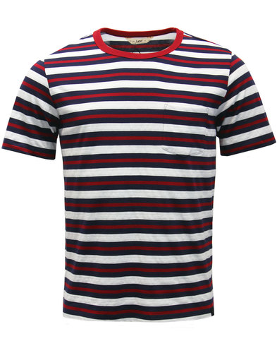 LEE Retro Mod Multi Stripe Pocket Ringer T-Shirt