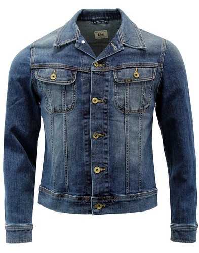 lee rider retro mod denim jacket blue surrender
