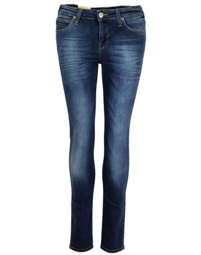 LEE JEANS WOMENS SCARLETT SKINNY JEANS NIGHT SKY