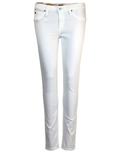 Scarlett LEE Retro Mod White Skinny Denim Jeans