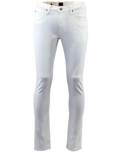lee luke retro 60s mod white denim tapered jeans