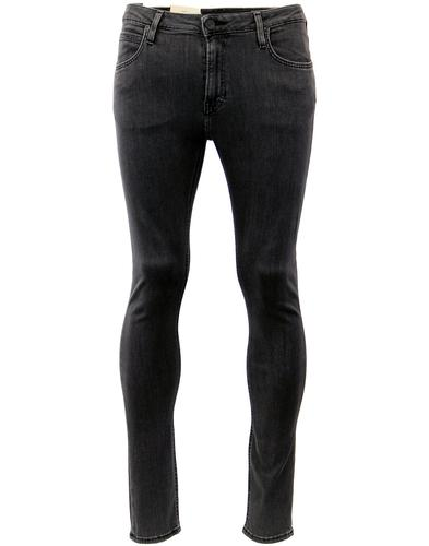lee malone retro indie mod skinny denim jeans grey